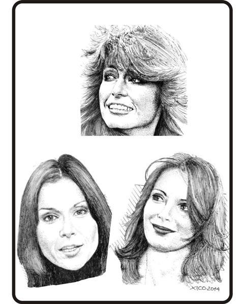 Farrah Fawcett, Kate Jackson, Jaclyn Smith by FCARLOS